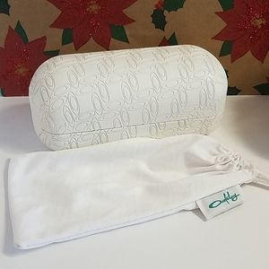 Oakley Hard Glasses Case White w/ cloth bag
